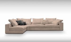 Γωνιακός καναπές Loft-Προσαρμόσιμη-315φ 185β εκ.-Μπεζ