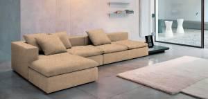 Γωνιακός καναπές Lory-280φ 135β εκ.-Μπεζ