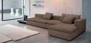 Γωνιακός καναπές Lory-280φ 135β εκ.-Σοκολατί