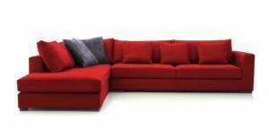 Γωνιακός καναπές Air-Δεξιά-290φ 230β-Κόκκινο