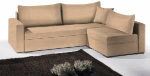 Γωνιακός καναπές Kleio-195φ 140β-Sand