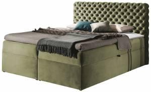 Επενδυμένο κρεβάτι Chesterfield-Ladi-140 x 200 εκ.