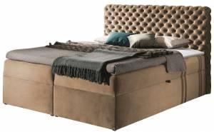 Επενδυμένο κρεβάτι Chesterfield-Kafe-160 x 200 εκ.