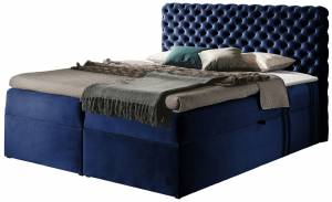 Επενδυμένο κρεβάτι Chesterfield-Mple-200 x 200 εκ.
