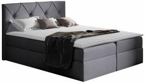 Επενδυμένο κρεβάτι Crystal-Gkri Skouro-120 x 200 εκ.