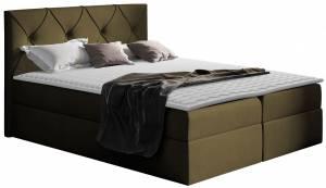 Επενδυμένο κρεβάτι Crystal-Ladi-140 x 200 εκ.
