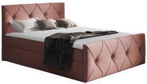 Επενδυμένο κρεβάτι Crystal Lux-Roz-200 x 200 εκ.