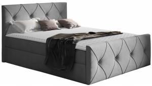 Επενδυμένο κρεβάτι Crystal Lux-Gkri Anoixto-200 x 200 εκ.