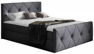 Επενδυμένο κρεβάτι Crystal Lux-Gkri Skouro-120 x 200 εκ.