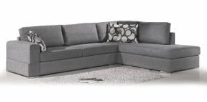 Γωνιακός καναπές Must-Αριστερή-275φ 210β εκ.-Γκρι Anoixto