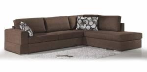 Γωνιακός καναπές Must-Αριστερή-275φ 210β εκ.-Σοκολατί