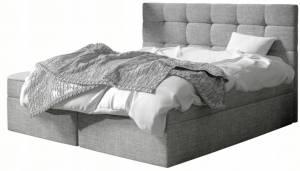 Επενδυμένο κρεβάτι Luanda-140 x 200-Gkri Anoixto