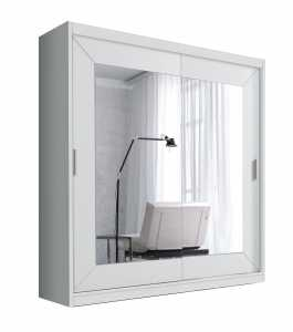 Ντουλάπα Συρόμενη Vita-200φ 60β 215ψ-Λευκό