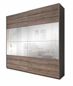 Ντουλάπα Συρόμενη Kappa με Καθρέπτες-220 x 61 x 210 εκ.