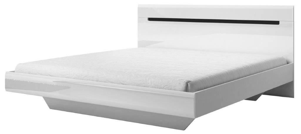 Κρεβάτι Columbia-Λευκό - Μαύρο-180 x 200