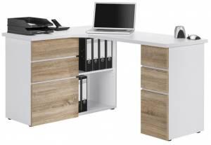 Γραφείο Linden-Λευκό - Φυσικό