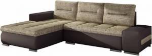 Γωνιακός καναπές Otto-Αριστερή-Καφέ - Μπεζ