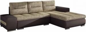 Γωνιακός καναπές Otto-Δεξιά-Καφέ - Μπεζ