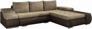 Γωνιακός καναπές Onar-Δεξιά-Καφέ - Μπεζ