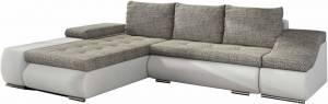 Γωνιακός καναπές Onar-Αριστερή-Λευκό - γκρι