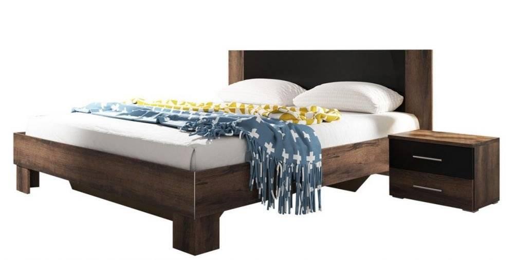 Κρεβάτι με 2 κομοδίνα Veron-180x200-Καρυδί Σκούρο