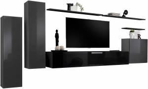 Σύνθετο σαλονιού Swiss I-Γκρι - Μαύρο