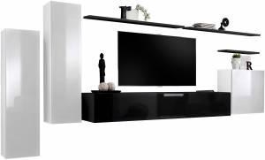 Σύνθετο σαλονιού Swiss I-Λευκό - Μαύρο