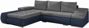 Γωνιακός καναπές Onar-Μπλε - Γκρι-Αριστερή