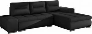 Γωνιακός καναπές Otto-Μαύρο-Δεξιά