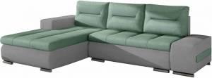 Γωνιακός καναπές Otto-Γκρι-Τιρκουάζ-Αριστερή