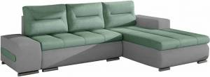 Γωνιακός καναπές Otto-Γκρι-Τιρκουάζ-Δεξιά