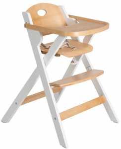 Καρέκλα φαγητού Bill-Φυσικό - Λευκό
