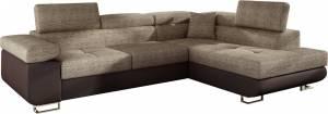 Γωνιακός καναπές Antony-Καφέ - Μπεζ-Δεξιά