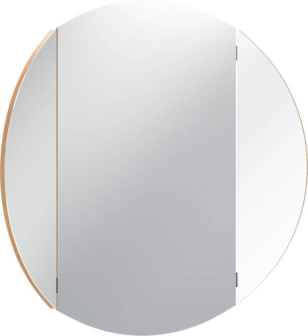 Καθρέπτης Simple Round-Φυσικό