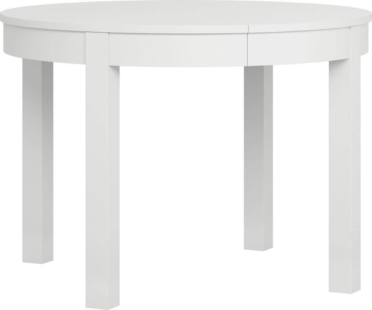 Τραπέζι Simple Round επεκτεινόμενο-Λευκό