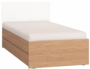 Κρεβάτι παιδικό Simple-Φυσικό - Λευκό