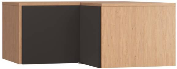 Πατάρι γωνιακής ντουλάπας Simple-Φυσικό - Μαύρο