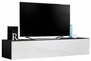 Κρεμαστό έπιπλο τηλεόρασης Fly IV-Λευκό - Μαύρο