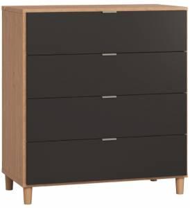 Συρταριέρα Simple-Φυσικό - Μαύρο