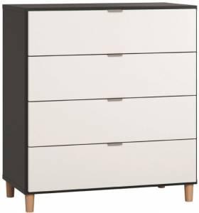 Συρταριέρα Simple-Μαύρο - Λευκό