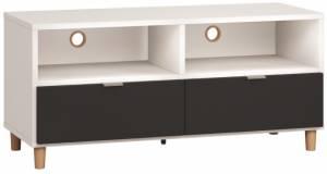 Έπιπλο τηλεόρασης Simple 120-Λευκό - Μαύρο