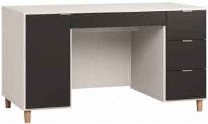 Γραφείο Simple 140-Λευκό - Μαύρο