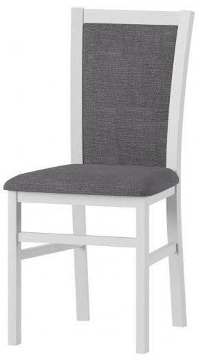 Καρέκλα Meriland-Λευκό - Γκρι Σκούρο