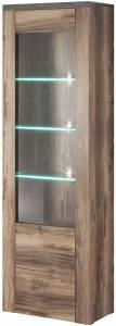Βιτρίνα Lark 5-Φυσικό Σκούρο