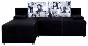 Γωνιακός καναπές Adelina-Μαύρο