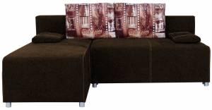 Γωνιακός καναπές Adelina-Καφέ σκούρο
