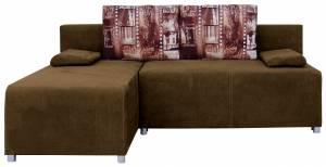 Γωνιακός καναπές Adelina-Καφέ ανοικτό