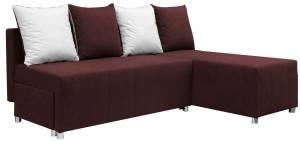 Γωνιακός καναπές Ezio-Καφέ