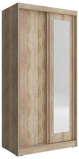 Ντουλάπα συρόμενη Bellamy-100 x 62 x 206 εκ.-Φυσικό