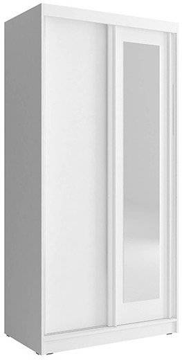 Ντουλάπα συρόμενη Bellamy-100 x 62 x 206 εκ.-Λευκό